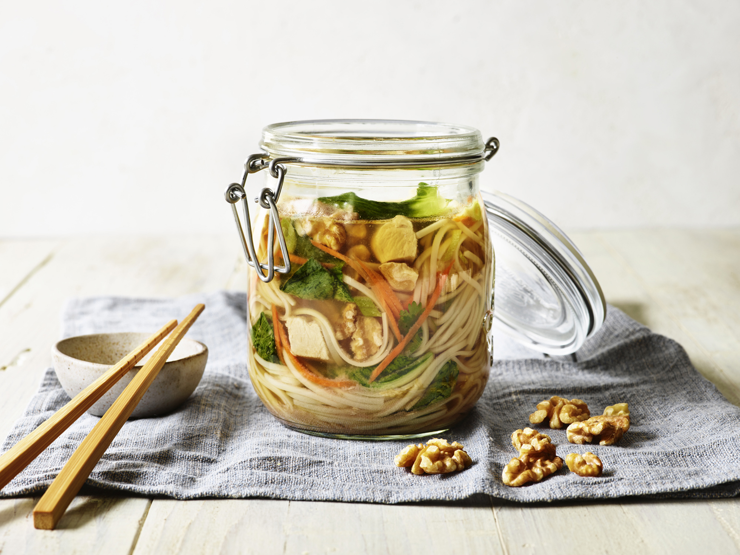 LEIGH_BEISCH_Asian_Walnut_Chicken_Veggie_Noode_Jar_Traditional_22076